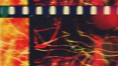 36mm Light Scracth Grunge filmleader Stock Footage