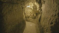 The western wall tunnels in old Jerusalem Stock Footage