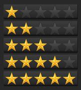 Rating stars Stock Illustration