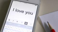 I love you - stock footage