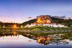 Chiang Mai Royal Flora Park Stock Photos