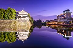 Nagoya Castle Moat Stock Photos