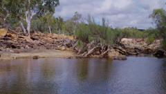 Murchison River, Kalbarri National Park, Western Australia Stock Footage