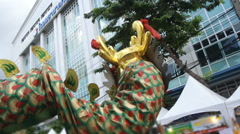 Chinese dragon parade Stock Footage