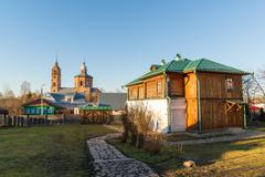 Suzdal, Russia - November 06, 2015.    Museum  of Wooden Architecture in the  Stock Photos