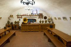 Suzdal, Russia - November 06, 2015. Museum Wooden Architecture, Interior of m Stock Photos