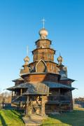 Suzdal, Russia - November 06, 2015.    Museum  of Wooden Architecture in the  - stock photo