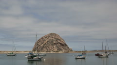 4K Time lapse close up Morrow Bay Stock Footage