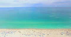 Aerial 4K video of South Beach, Miami Beach.  Stock Footage