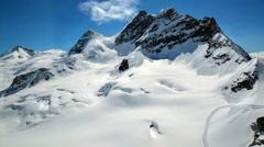 Amazing view of swiss alps, Switzerland Stock Footage