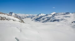 Amazing view of swiss alps, Switzerland - stock footage