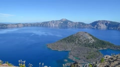 Crater lake, Oregon Stock Footage