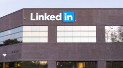 Exterior view of LinkedIn'™s corporate headquarters. Stock Footage