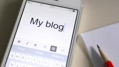 My blogging Story Stock Footage