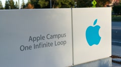 Apple headquarters on Nov 15, 2014 at Infinite loop in Cupertino Stock Footage