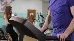 A man on a treadmill Stock Footage