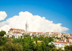 View of Medieval Town Vrsar in Croatia. Stock Photos