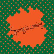 Abstract vector background. Spring time. - stock illustration