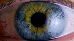 Extreme close up human eye iris  Stock Footage