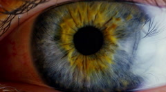 Extreme close up human eye iris  Stock Footage