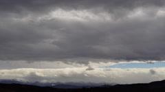 Mountain Dark Clouds Timelapse 4K - stock footage