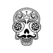 Vector  Dead Skull illustration, Hand drawn Skull in zentangle s - stock illustration
