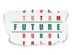 Time concept: Future in Crossword Puzzle Stock Illustration