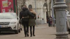 Couple walking Stock Footage