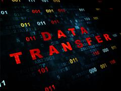 Data concept: Data Transfer on Digital background - stock illustration