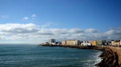 Timelapse of Seaside in Cádiz. Spain Stock Footage