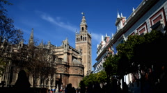 Seville Cathedral. La Giralda. Sevilla. Spain Stock Footage
