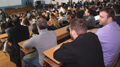 Students in  University lecture hall  - stock footage