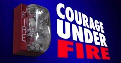 Courage Under Fire Bravery Dangerous Hero Action Alarm 4K Stock Footage