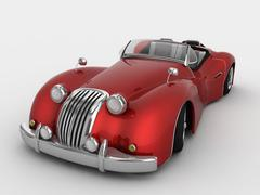 3d model of Retro car