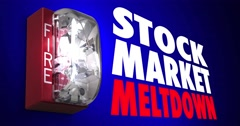 Stock Market Meltdown Fire Alarm Crash Shares Down 4K Stock Footage