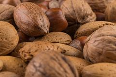 Variety of Mixed Nuts Stock Photos