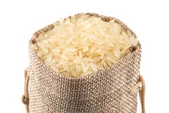 Long grain rice on white background Stock Photos