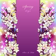 Hand drawn sakura design. - stock illustration