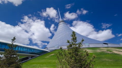 Khan Shatyr timelapse hyperlapse in Astana, Kazakhstan. Residents of the city Stock Footage