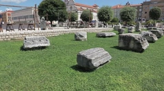 Zadar Green square Stock Footage