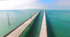 Seven Miles bridge. Florida Keys - stock footage