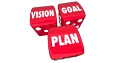 Vision Goal Plan Rolling Dice Management Strategy 4K Stock Footage