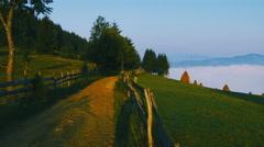 Transylvanian rural landscape 4 Stock Footage