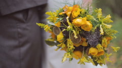 Eco forest wedding bridal bouquet Stock Footage
