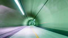 Tunnel Driving - stock footage