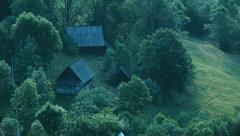 Wooden house in the woods - Day to Night 2 Stock Footage