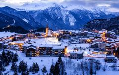 Aussois sur Arc village France Stock Photos