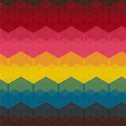 Seamless Geometric Abstract Pattern from Hexagon Intersections - stock illustration