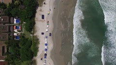Top View of Beach in Brazil Stock Footage