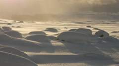 Waves of snow bumps in winter Stock Footage